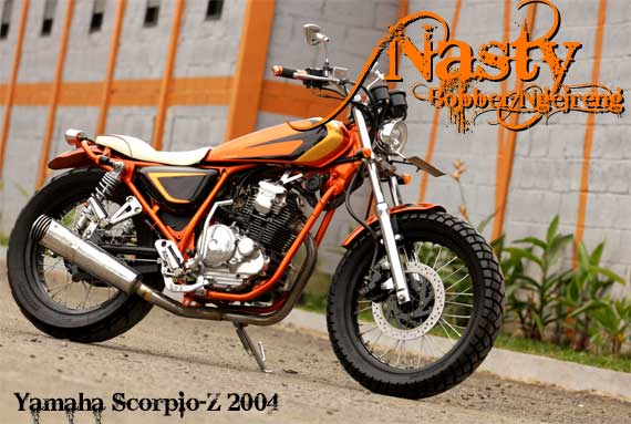 Modifikasi Yamaha Scorpio Style Jap