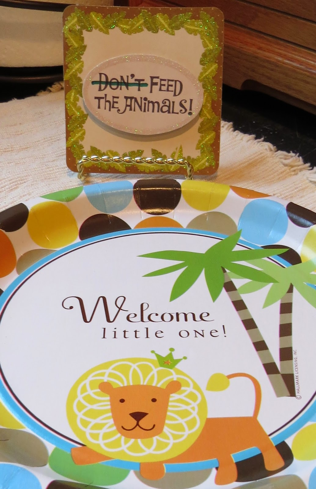 Don't Feed The Animals! Party plates,  Jungle Theme