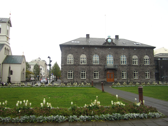 City hall in Reykjavik, Iceland.