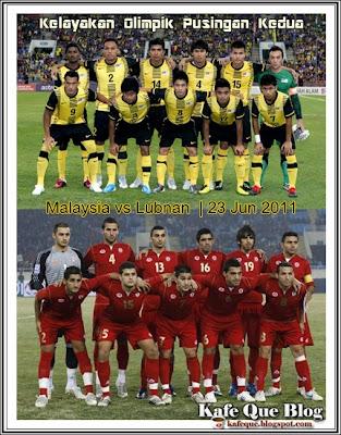 malaysia vs lubnan, malaysia lwn lebanon, malaysia vs lubnan 23 jun 2011, kelayakan olimpik malaysia vs lubnan, keputusan terkini malaysia vs lubnan, tiket perlawanan malaysia vs lubnan