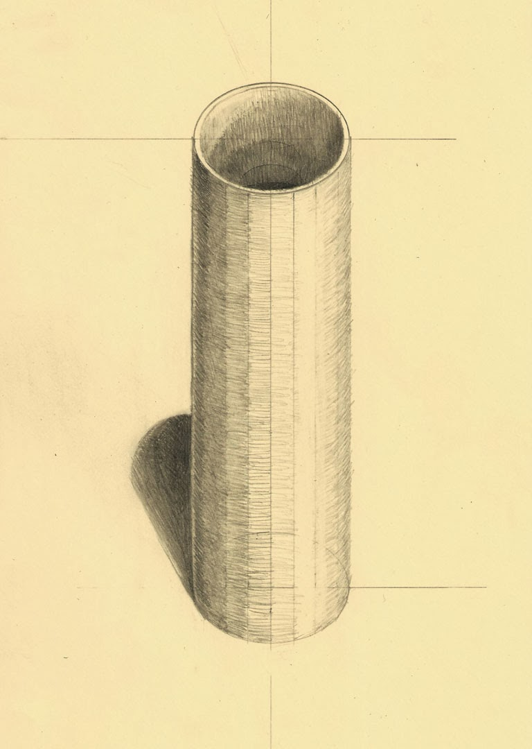How to draw a cylinder in stages 25