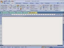 membuka tab banyak di ms.word