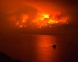 The Columbia Gorge ablaze