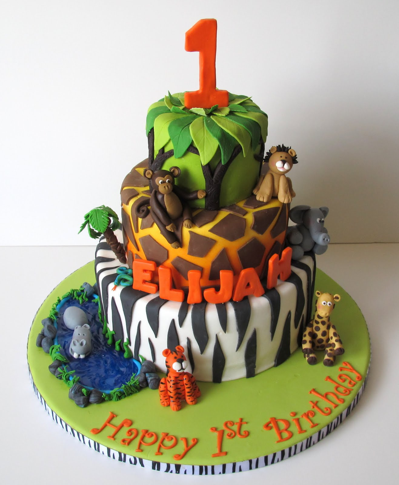 Jungle Birthday Cake Images : Sugar Fairy Tales
