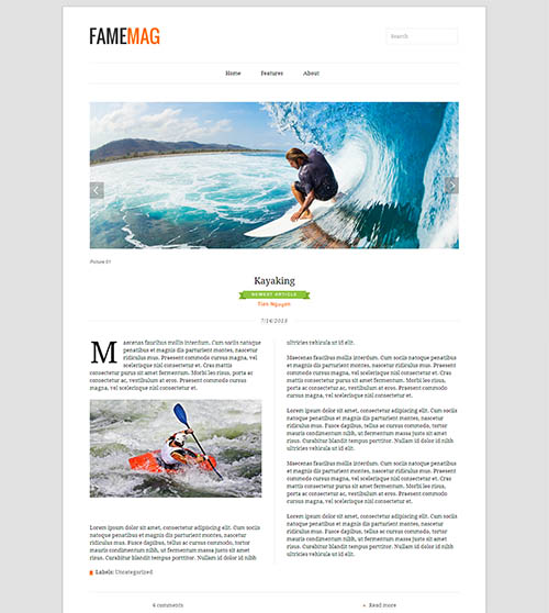 FameMag-Blogger Template for Blog and Magazine