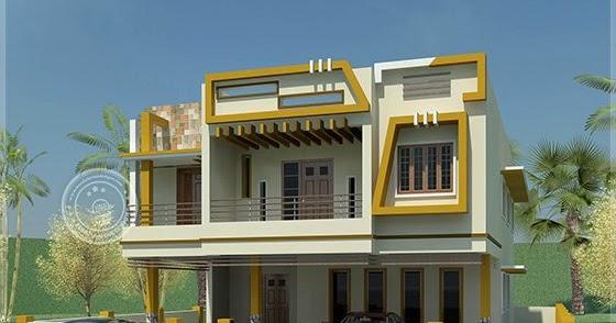 Modern tamilnadu style home design in 1508 for Tamilnadu house model photo gallery