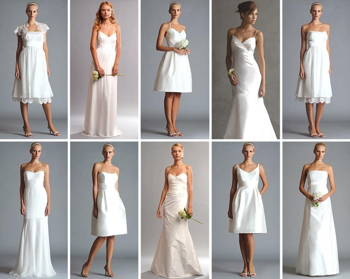 Wedding Gallery: Simple Wedding Dresses Make a Come Back