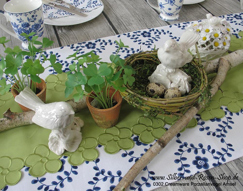 Frische Osterideen mit blau weiß und grün