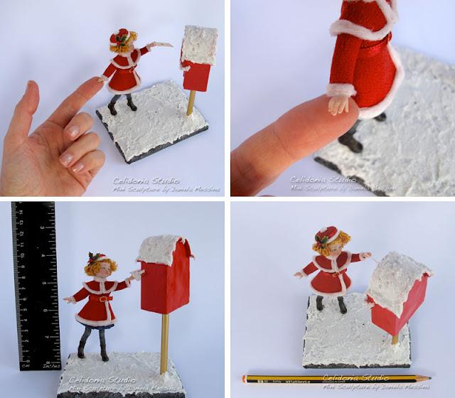 Caro Babbo Natale - Miniatura in Pasta Sintetica - By Celidonia - Daniela Messina