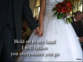 hold on my hand love quote
