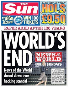 cierre news of the world, closed news of the world, rupert murdoch