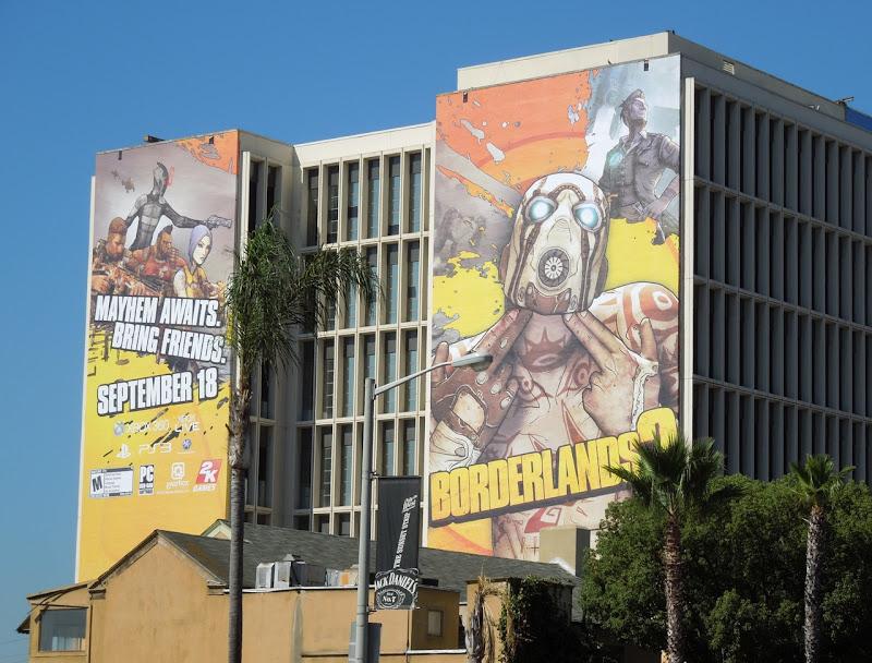 Giant Borderlands 2 video game billboards