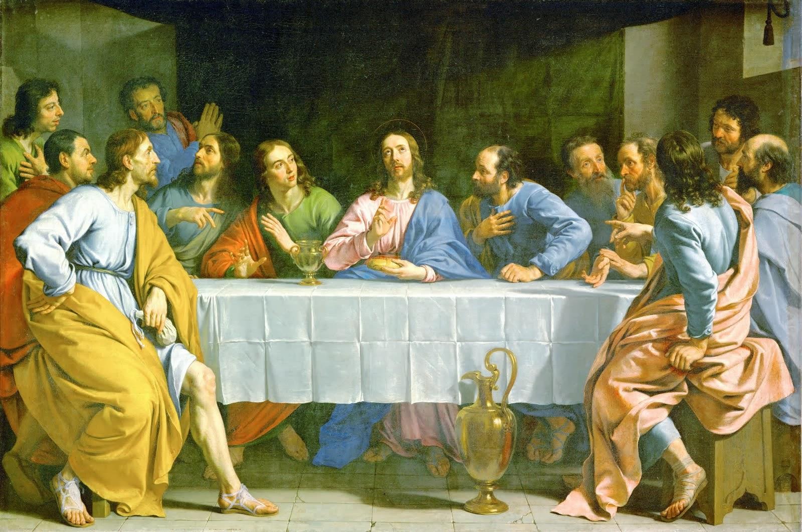 """La Petite Cène """"The Little Last Supper"""" 1652 PhilippedeChampaigne(1602-1674) LemuséeduLouvre"""