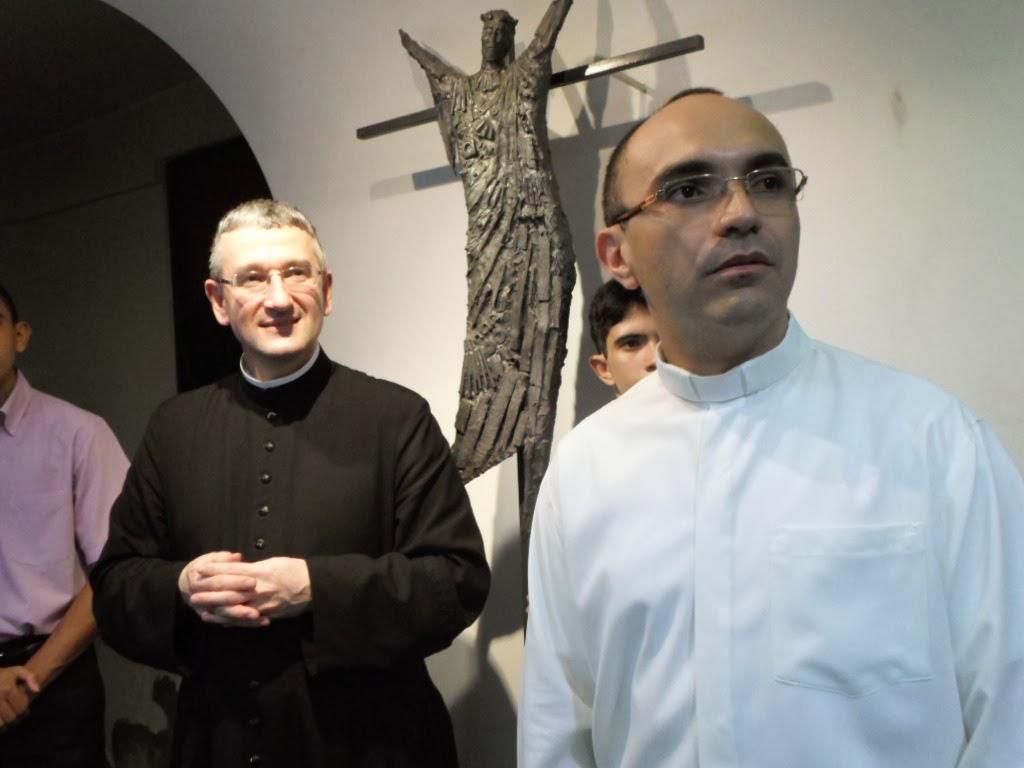 Padre Larroque responsável mundial pelo Movimento Sacerdotal Mariano, esteve conosco no aniversário do Pe. Rafhael Maciel