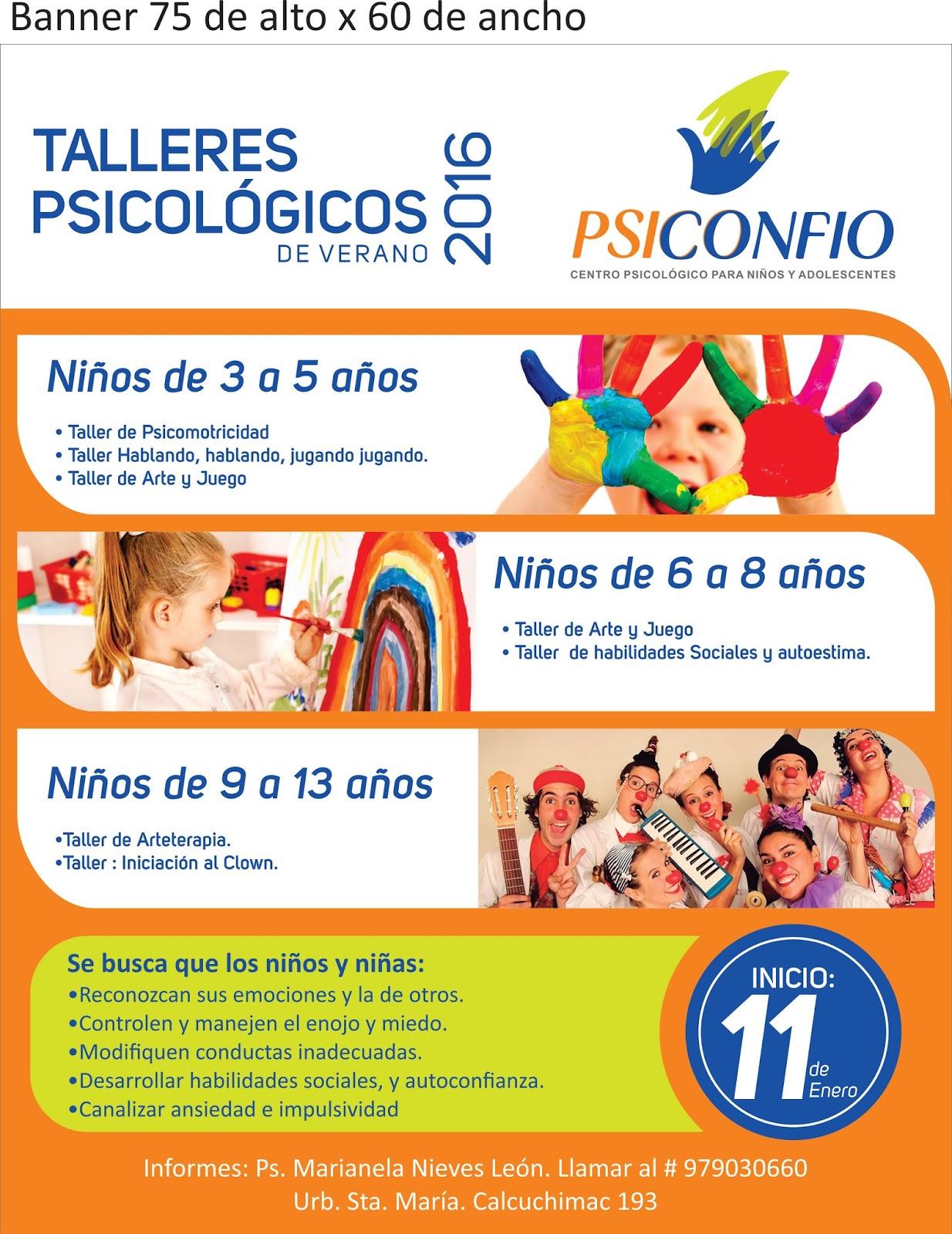 Psiconfio Centro Psicol Gico Talleres De Verano 2016 Para Talleres Para  Ninos Valencia