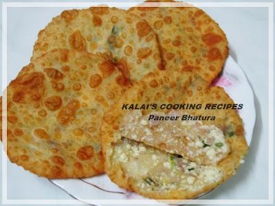 Paneer Bhatura | பனீர் பூரி | Paneer Stuffed Poori
