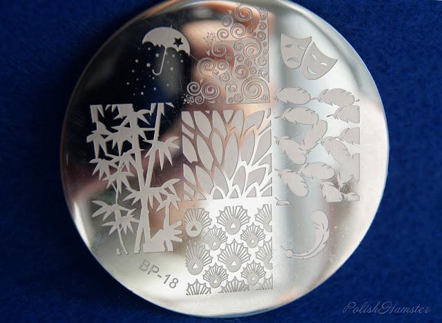 Leaf & Feather Plate BORN PRETTY BP18