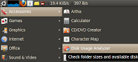 Baobab- Tool to graphically display hard drive size on Ubuntu Linux at main menu