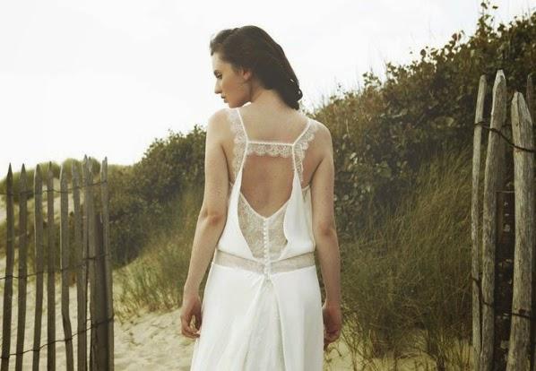 robes de mariée dos nu décolleté en dentelle