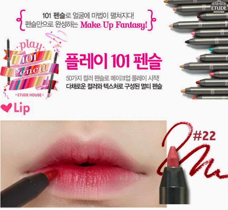 play 101 pencil, jual etude murah, jual 101 pencil, pensil multifungsi, etude house, jual etude semarang, chibi's etude house korea