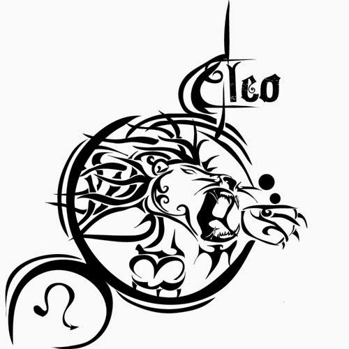 Leo zondiac tattoo stencil