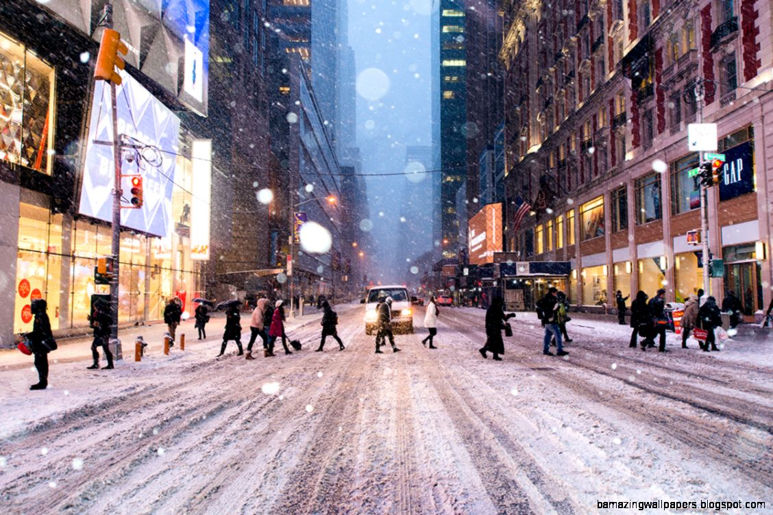 Photography from Dave Krugman   Winter Storm Juno Times Square