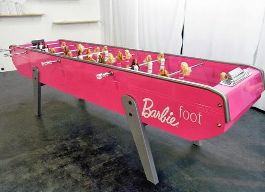 Bàn banh bàn Barbie