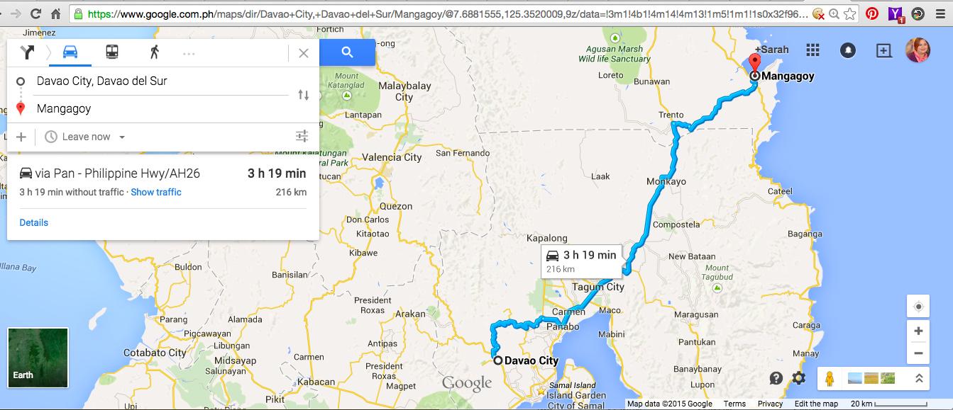 Davao City To Surigao Map