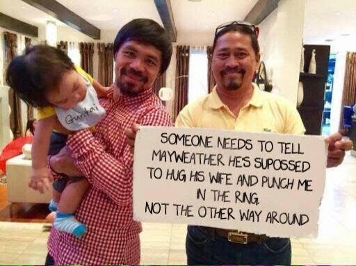 Lol. Manny Pacquaio mocks Floyd Mayweather in new pic