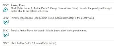 penalti di liga rusia