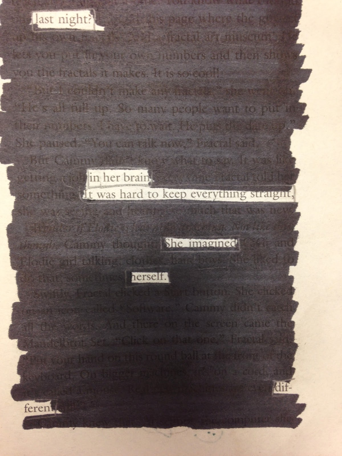 Examples Of Poetry Book Covers ~ Love teach blackout poetry for the win