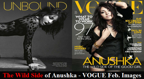 Anushkha Sharma gone Wild for Vogue India Magazine Photo Shoot Images