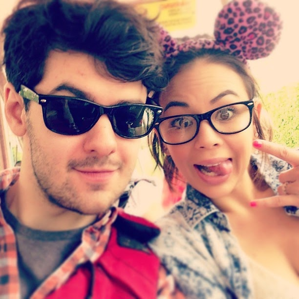 Janel Parrish and Brendan Robinson