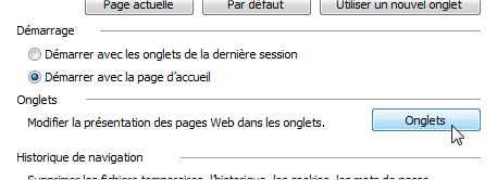 capture d'écran Internet Explorer