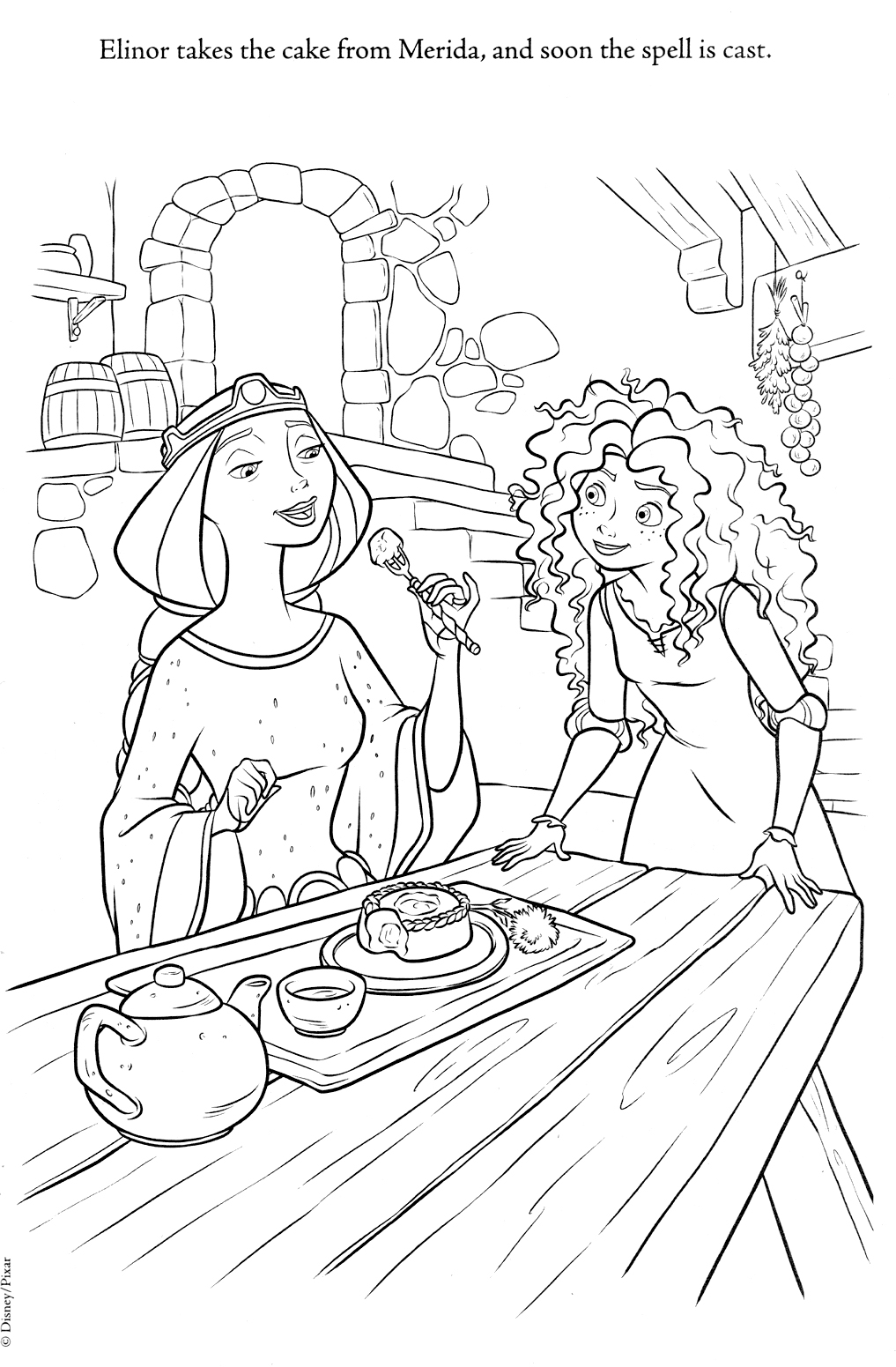 Disney Coloring Pages Brave : Disney coloring pages
