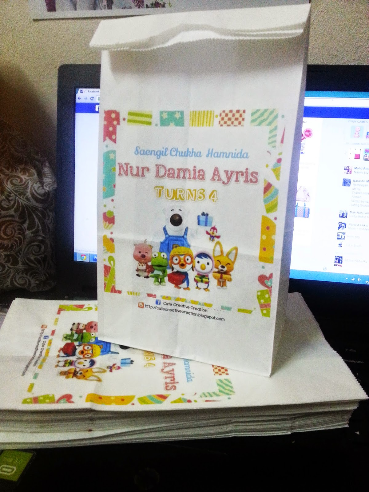 Paper bag untuk birthday for Idea doorgift untuk aqiqah