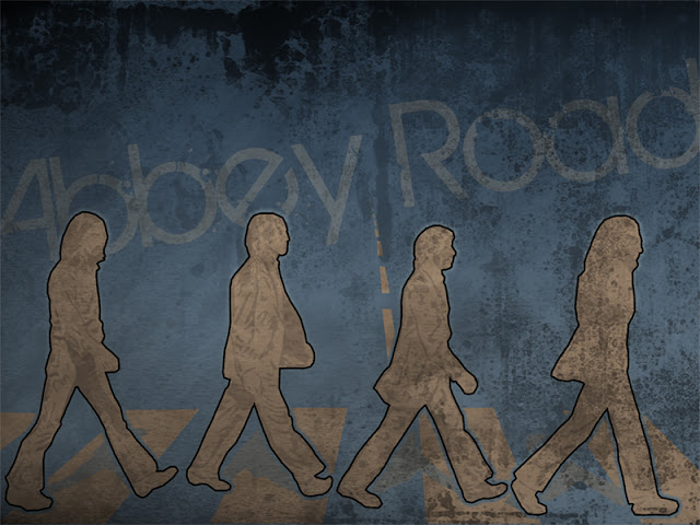 abbey road wallpaper, the beatles fondo de pantalla