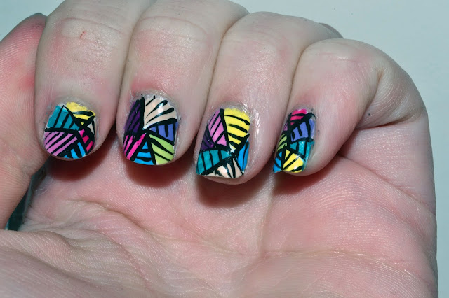 Colorful Striped Nails by Elins Nails