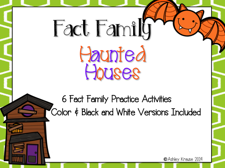 http://www.teacherspayteachers.com/Product/Fact-Family-Haunted-Houses-1480924