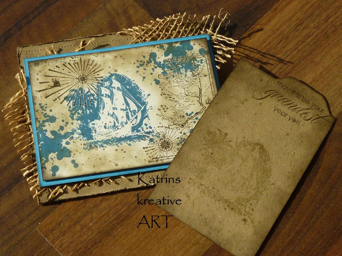 katrins kreative art coole piratenkarte f r teenager. Black Bedroom Furniture Sets. Home Design Ideas