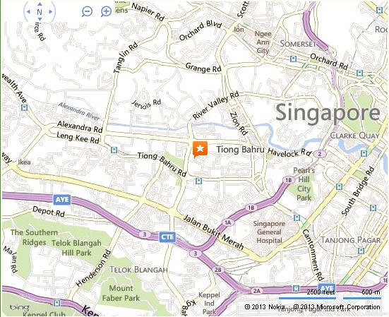 Tiong Bahru Estate Singapore Location Map – Tourist Map Of Singapore City