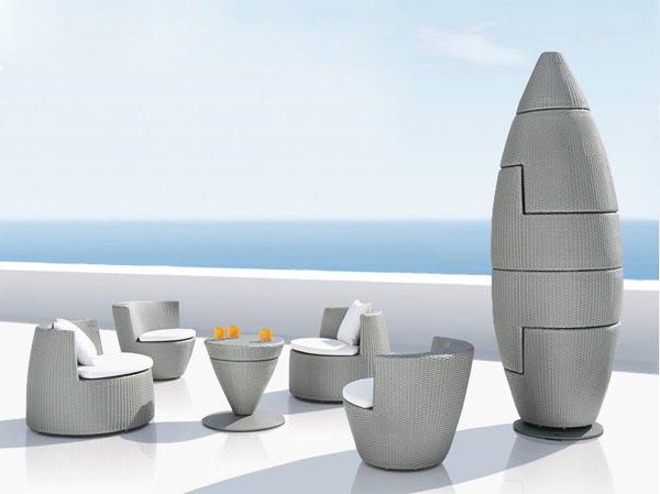 Jardin design salon de jardin obelisk cr par frank - Salon de jardin totem ...