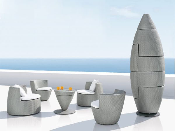 Jardin design salon de jardin obelisk cr par frank for Salon de jardin moderne design