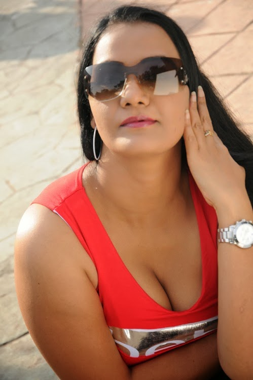 Apoorva Latest Hot Photo Gallery in Red Top | HQ Pics n ...