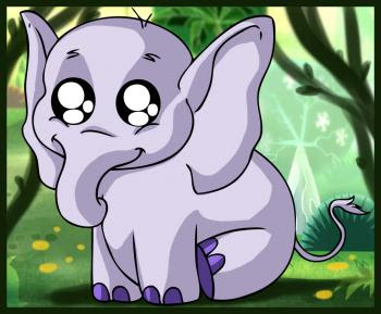 Cute baby cartoon elephant picture