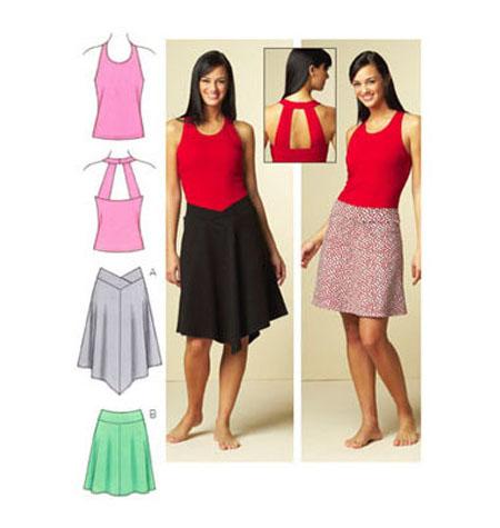 A Sewing Life Kwik Sew 3672 Knit Skirt