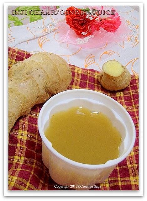 inji chaar/ginger juice