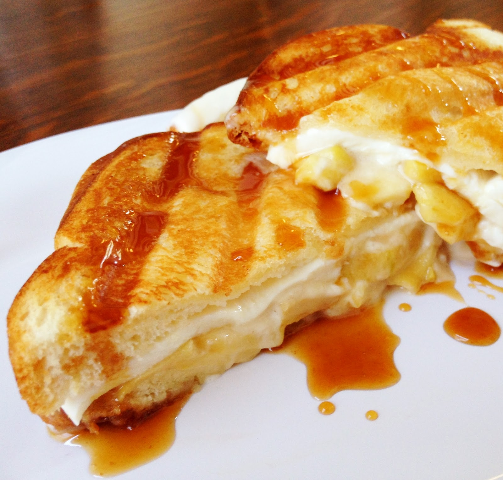 Caramel Apple Grilled Cheese Sandwich - Simply Jullie and ...