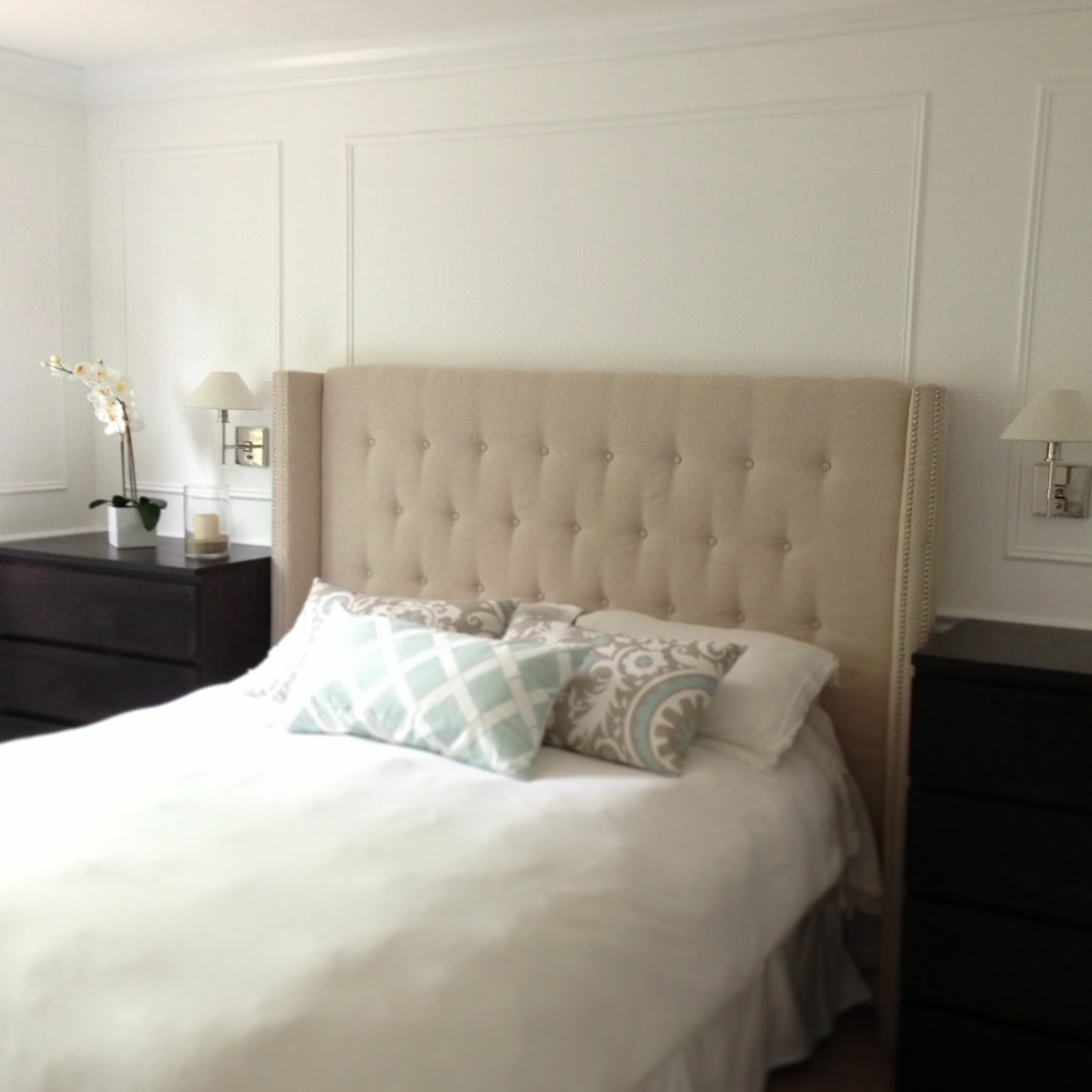 Design Upholstered Headboards Diy money hip mamas diy upholstered headboard with nailhead detailed arms