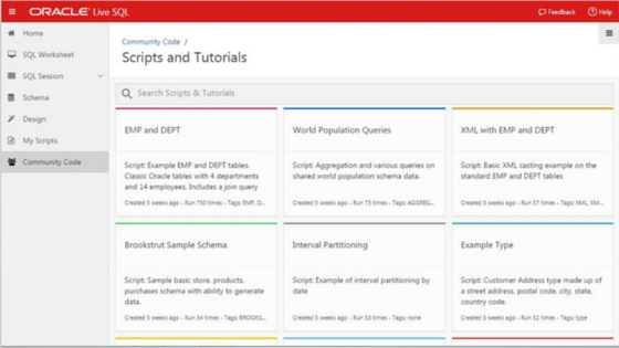 Free online sql tutorials and examples